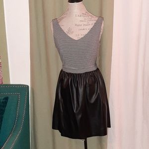 NWT BeBop black & white mini dress